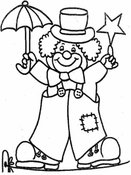Disegni Da Colorare Gratis Per Carnevale.Disegno Di Pagliaccio Da Colorare Clown Da Stampare Gratis Per