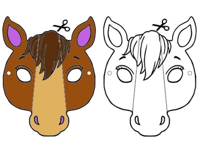 Maschera Da Cavallo Per Bambini Da Stampare Per Carnevale