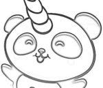 Disegno di Pandacorno per bambini