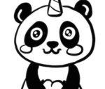 Disegno di Pandacorno con cuore