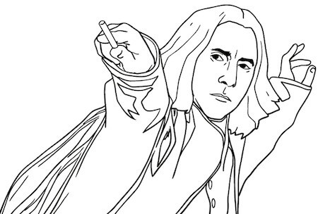 Disegno Di Severus Piton Da Stampare Gratis E Colorare Harry Potter