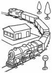Disegno di treno da colorare