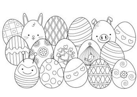 Disegno Di Uova Di Pasqua Per Bambini Da Stampare E Colorare