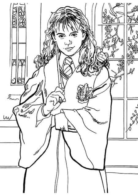 Hermione da stampare e colorare