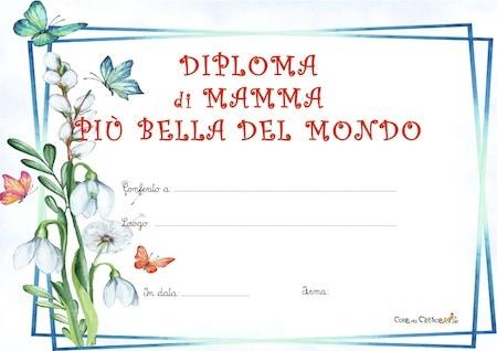 Diploma per la mamma più bella del mondo