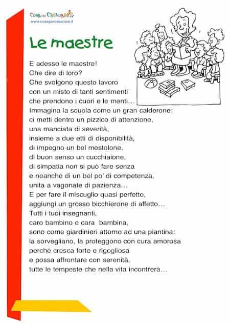 Poesia per le maestre: scuola primaria
