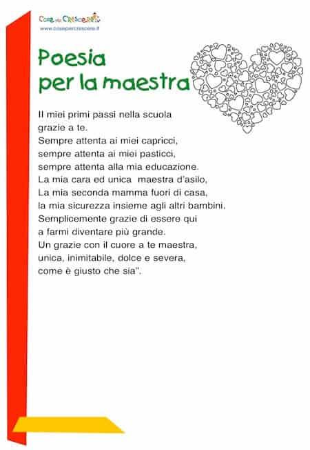 poesia per la maestra: scuola primaria