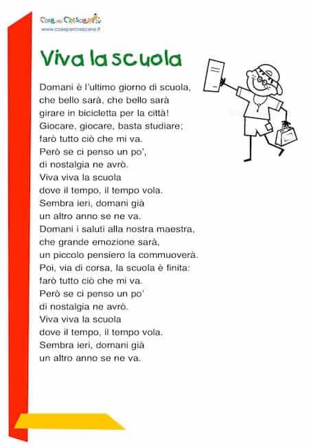 Poesie fine scuola