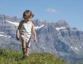 gita in montagna con bambini piccoli