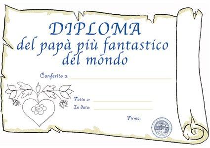 Diploma di papà fantastico da stampare