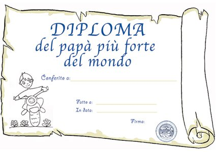Diploma di papà più forte