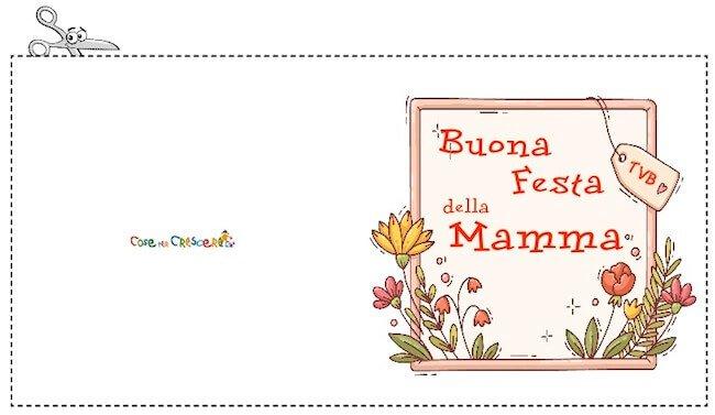 Biglietto di auguri Festa della mamma da stampare