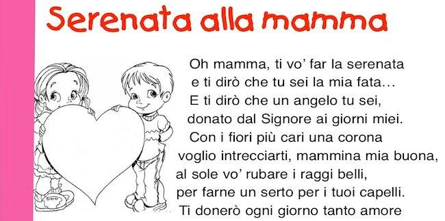 serenata alla mamma: poesia per la mamma