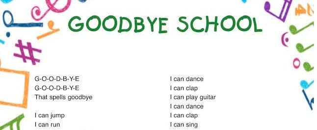 Goodbye school: canzone fine scuola in inglese