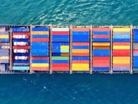 Portacontainer nel canale di suez