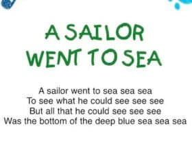 A sailor went to sea: canzone sull'estate in inglese per bambini