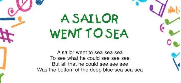 A sailor went to sea: canzone sull'estate in inglese per bambini