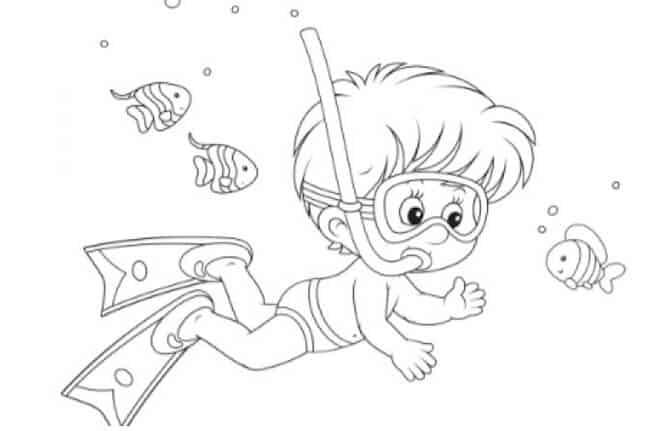 Subacqueo disegno per bambini