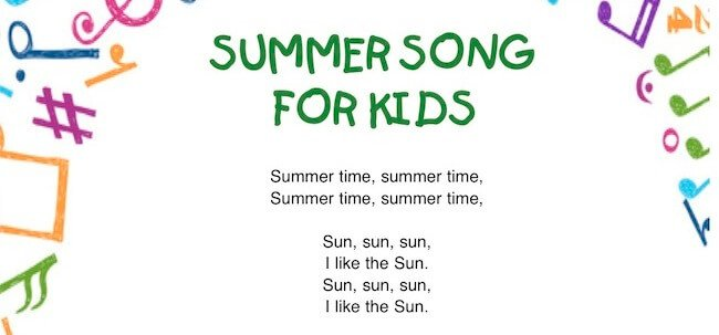 Summer song for kids: canzone sull'estate in inglese per bambini