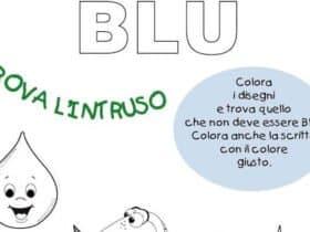 Scheda sul colore blu