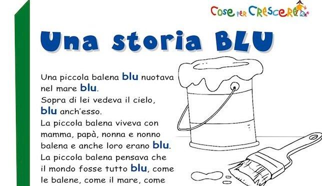 storia sul colore blu