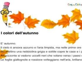 I colori dell'autunno: dettato per la scuola primaria