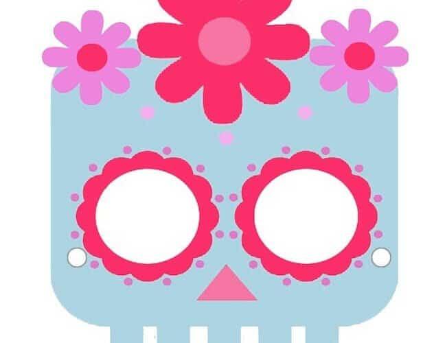 Maschera da teschio messicano per bambini