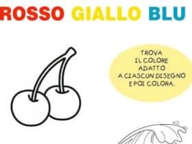 Rosso giallo blu: attività sui colori primari