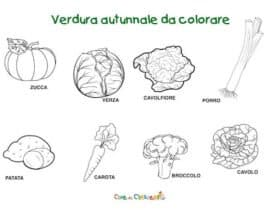 Verdure autunnali da colorare